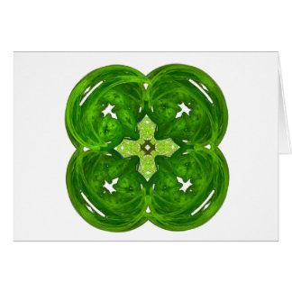 Shiney Fractal Art Four Leaf Clover Cards