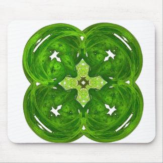 Shiney Fractal Art Four Leaf Clover Mouse Pad