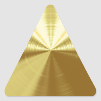 Shiney Gold Triangle Stickers