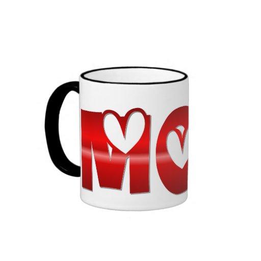 Shiney Mom with Hearts Mug