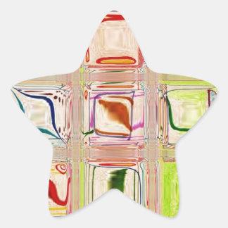 shiney rainbow customizable star stickers