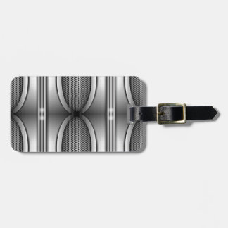 SHINEY SILVER SPEAKERS BAG TAG
