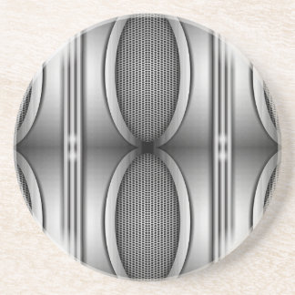 SHINEY SILVER SPEAKERS DRINK COASTER