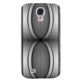 SHINEY SILVER SPEAKERS GALAXY S4 CASE