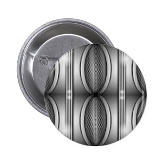 SHINEY SILVER SPEAKERS PINBACK BUTTON