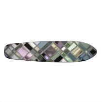 Shiney Slate Mosaic Pattern Skateboard Deck