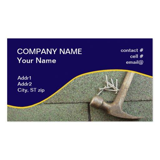 shingle roof business card templates