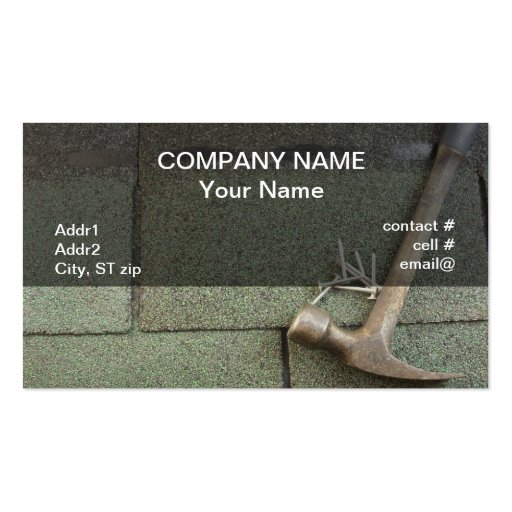 shingle roof business cards
