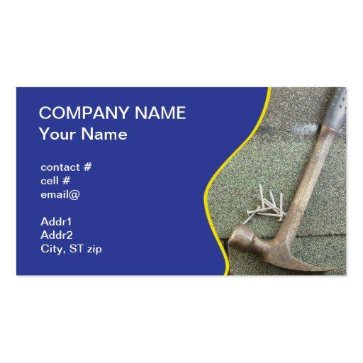 shingle roof business card template