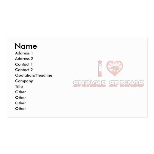Shingle Springs, CA Business Card Templates