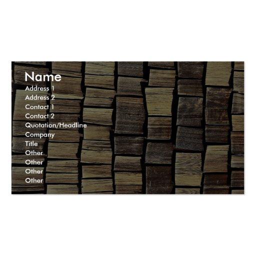 Shingle tiles pattern business card templates