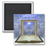 Shining a Light on the Word Magnet 2 Inch Square Magnet
