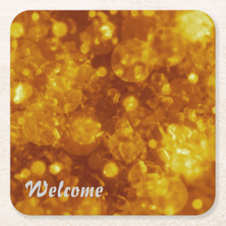 shining and shimmering,golden square paper coaster