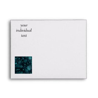 shining and shimmering, green envelopes