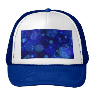shining and shimmering, inky blue trucker hat