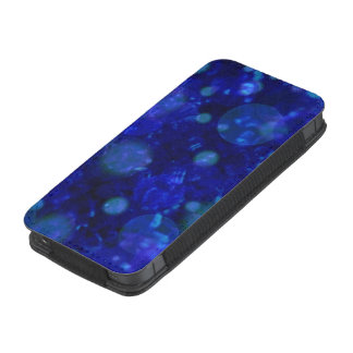 shining and shimmering,inky blue iPhone 5 pouch