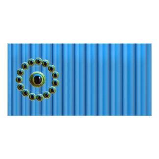Shining Blue Curtain Rods n Dragons Eye Camera Card