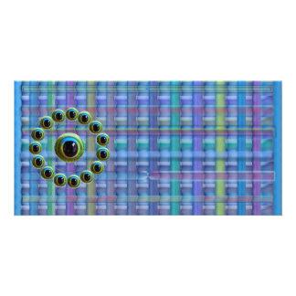 Shining Blue Curtain Rods n Dragons Eye Camera Photo Cards