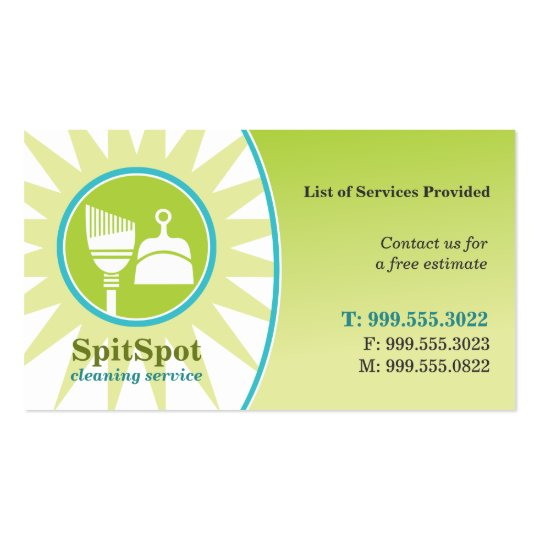 Shining Bright Cleaning Service Business Card