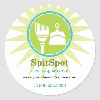 Shining Bright Cleaning Services Sticker sticker