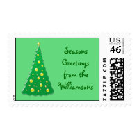 Shining Bright Seasons Greetings Postage stamp