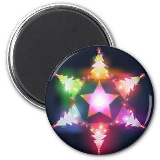 Shining Christmas trees magnet