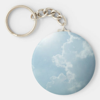 Shining Clouds Basic Round Button Keychain