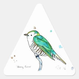 Shining Cuckoo Triangle Sticker