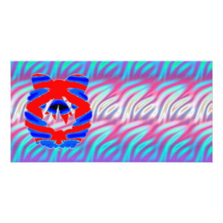 Shining Diamond RednBlue n Wave Pattern Card