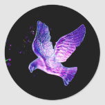 Shining Dove Classic Round Sticker