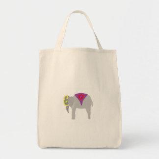 Shining Elephant Grocery Tote Bag