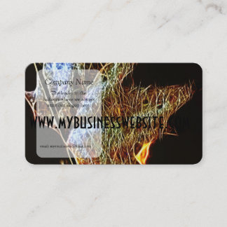 Shining Fall Leaf Abstract Business Card