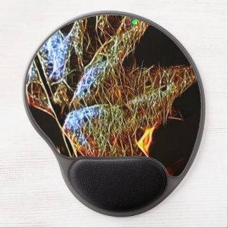 Shining Fall Leaf Abstract Gel Mouse Pad