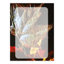 Shining Fall Leaf Abstract Magnetic Invitation