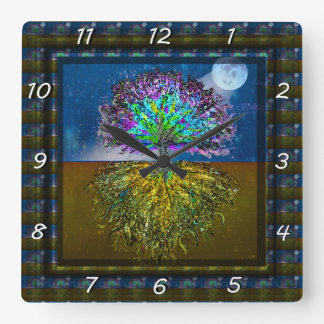 Shining From Within Square Wall Clock