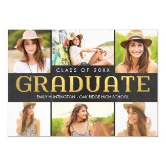 """Shining Future Graduation Announcement Invitation 5"""" X 7"""" Invitation Card"""