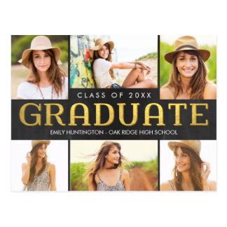 Shining Future Graduation Announcement Invitation Postcard