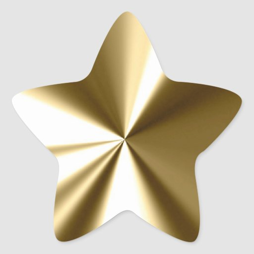 Shining Gold Star Stickers