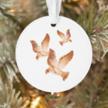 Shining Golden Doves Personalized Photo Ornament