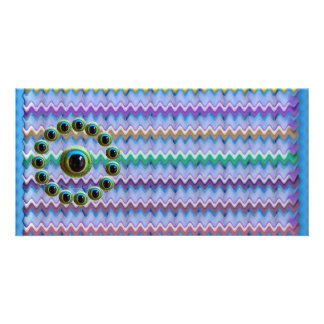 Shining Graphic Sparkle Rods  n Dragons Eye Camera Personalized Photo Card