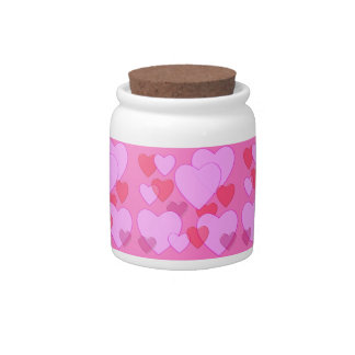 Shining heart Valentine background pink Candy Jars