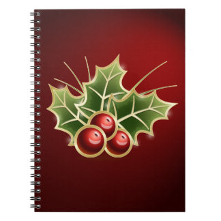 Shining Holly Berry Notebook