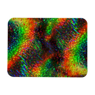 Shining Holographic Bright Rainbow Lights Glitter Rectangle Magnets