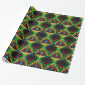 Shining Holographic Rainbow Lights Big Leaf Wrapping Paper