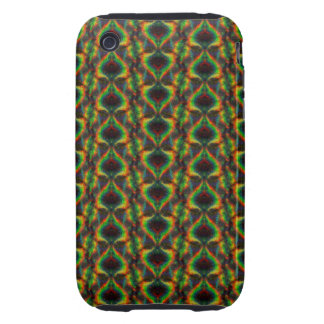 Shining Holographic Rainbow Lights Glitter Leaf iPhone 3 Tough Cases