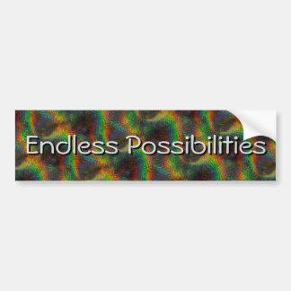 Shining Holographic Rainbow Lights Glitter Wave Bumper Sticker