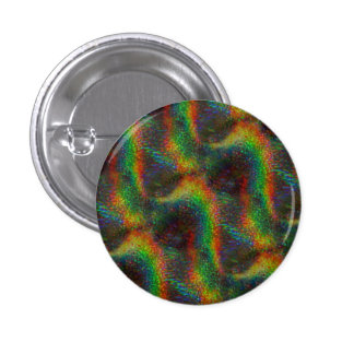 Shining Holographic Rainbow Lights Glitter Wave Pinback Button