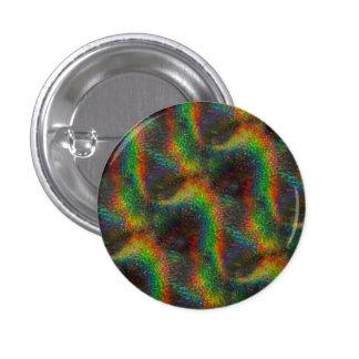 Shining Holographic Rainbow Lights Glitter Wave Pinback Button