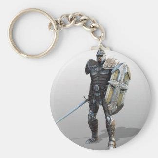 Shining Knight Basic Round Button Keychain