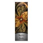 Shining Leaves Fractal Art Bookmark 2 Business Cards